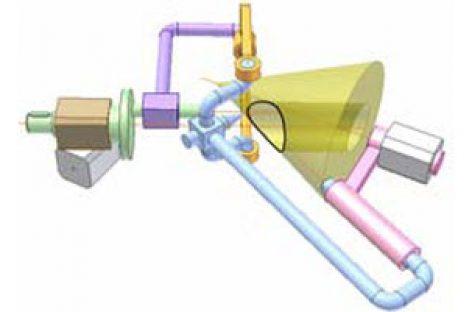 [Mô phỏng cơ cấu cơ khí] Cơ cấu vẽ giao tuyến hình côn và hình trụ 2