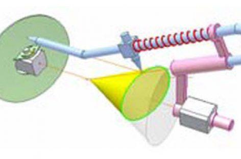 [Mô phỏng cơ cấu cơ khí] Cơ cấu vẽ giao tuyến hình côn và mặt phẳng 1