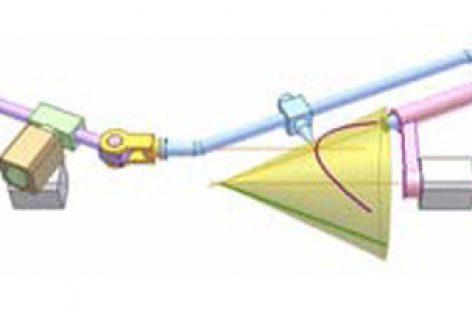 [Mô phỏng cơ cấu cơ khí] Cơ cấu vẽ giao tuyến hình côn và mặt phẳng 3