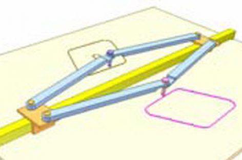 [Mô phỏng cơ cấu cơ khí] Dụng cụ vẽ hình đối xứng 1