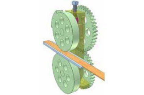 [Mô phỏng cơ cấu cơ khí] Cơ cấu đẩy phôi băng 1
