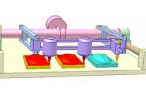 [Mô phỏng cơ cấu cơ khí] Máy phay gỗ chép hình 3D 1