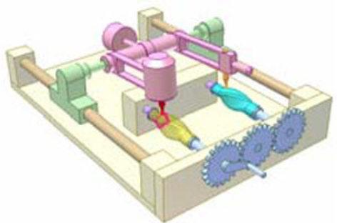 [Mô phỏng cơ cấu cơ khí] Máy phay gỗ chép hình 3D 2