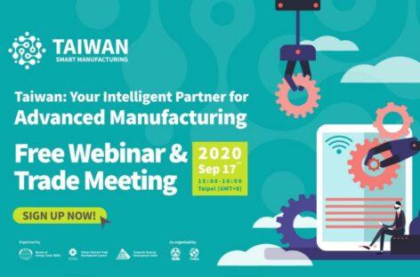 [Thư mời tham dự Hội thảo trực tuyến] Đài Loan – Đối tác thông minh cho sản xuất hiện đại