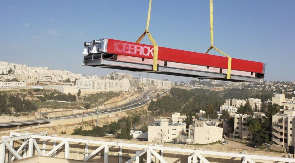 Hệ thống IceBrick của Nostromo được lắp đặt tại một tòa nhà ở Jerusalem